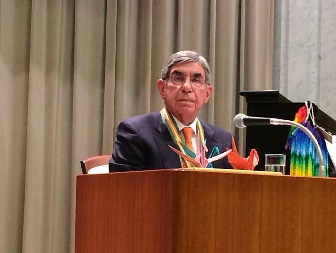 Oscar Arias. Photo from Facebook