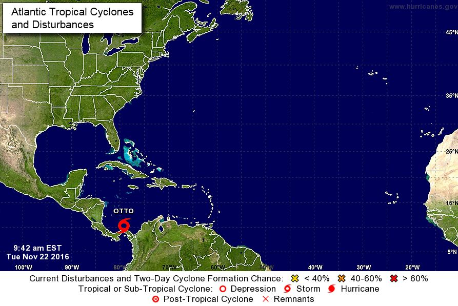 Tropical Storm Otto forms in Caribbean, could become hurricane