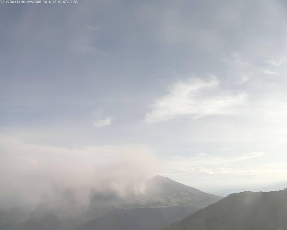 The Turrialba volcano Wednesday morning