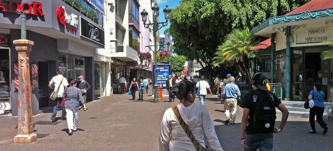 The Avenida Central (Bulevar) in San Jose