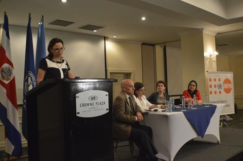 Costa Rica's vice-president Ana Elena Chacon presented the results of the Second National Survey on Sexual and Reproductive Healthon Monday