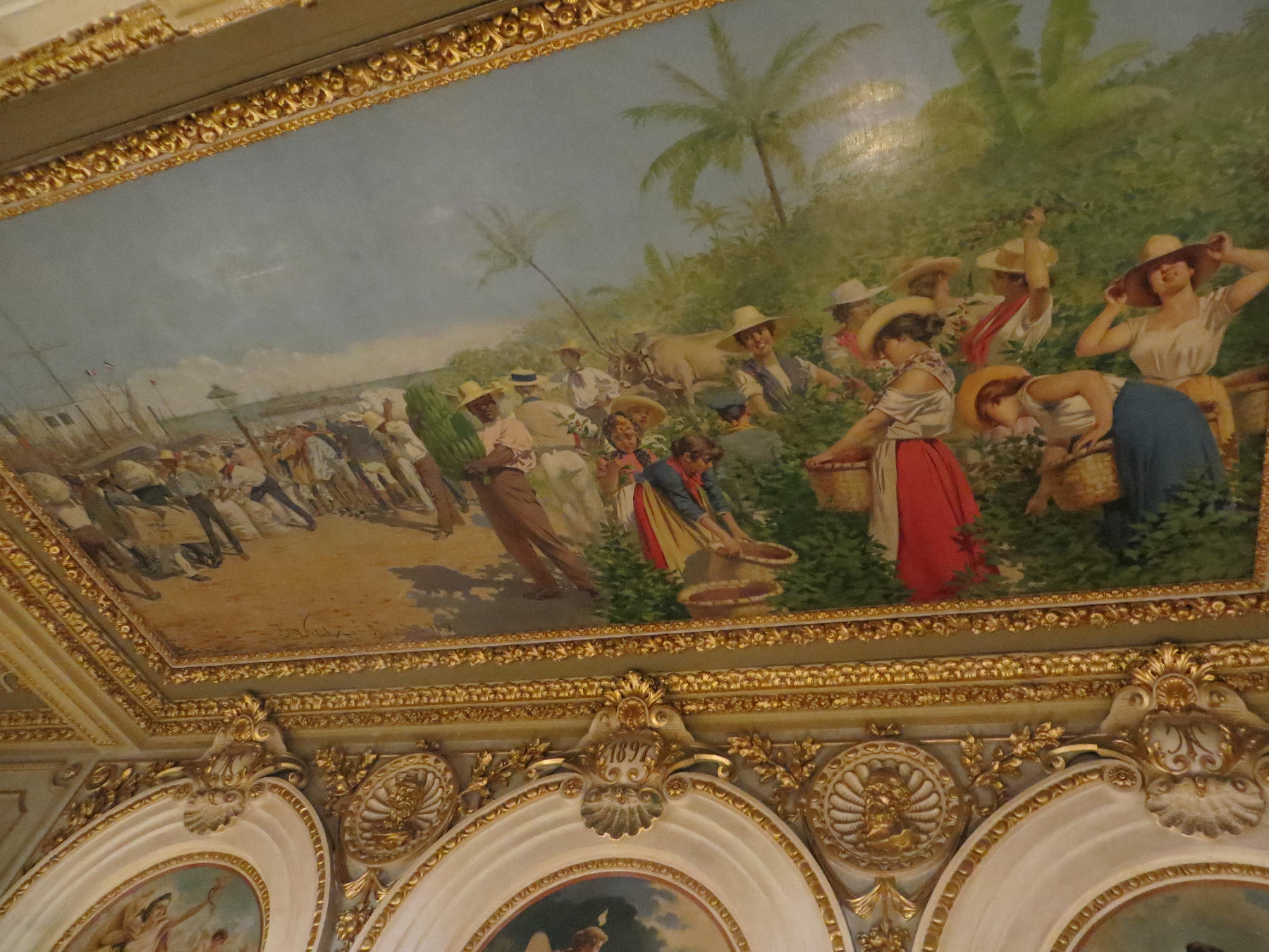 "The most famous painting in Costa Rica, titled ""The Allegory of the Coffee and the Bananas"" was supposed to be a composite of typical scenes in the country."