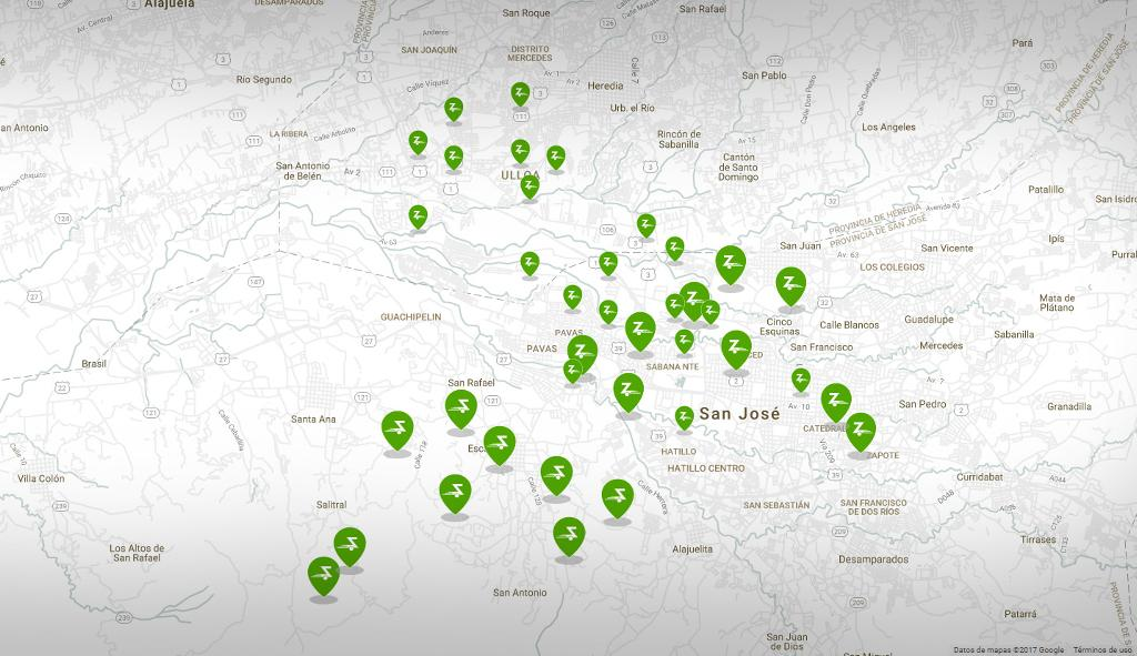 ZipCar Launches Carsharing Service in Costa Rica   Q COSTA RICA on google map, portland international airport map, linkedin map, home depot map, newark liberty international airport map, puma map, oracle map, logan international airport map, harvard map, zoom map, bay area rapid transit map, bank of america map, skype map, old navy map, gwinnett county transit map, george washington memorial parkway map, choice hotels map, pandora map, urban outfitters map, target map,